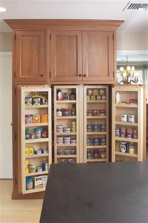 Kitchen Pantry Cabinets by Interior Of Large Pantry Cabinet Eclectic Kitchen