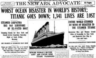 Titanic Sinks Newspaper Article 301 moved permanently