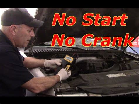 diagnosing  start  crankreplace starter  ford
