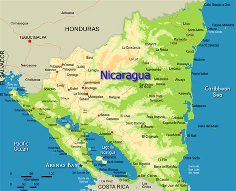 nicaragua on a map in nicaragua vacay and the nicaragua
