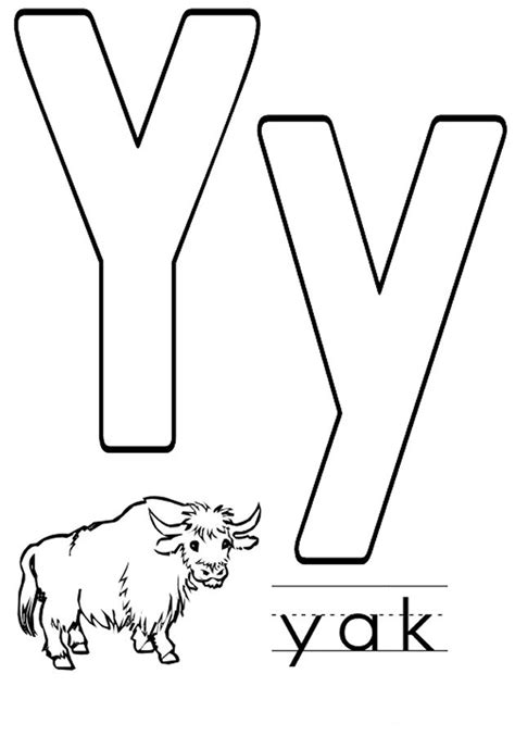coloring page for letter y letter y coloring pages to download and print for free