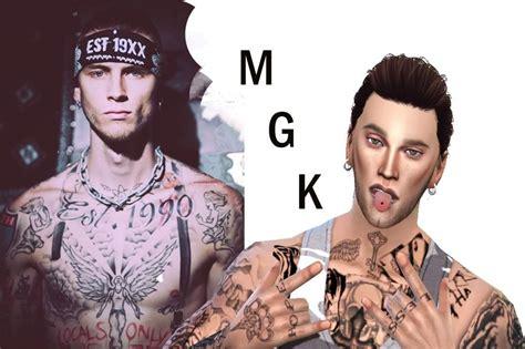 sims 4 cas mgk celebrity sims amino
