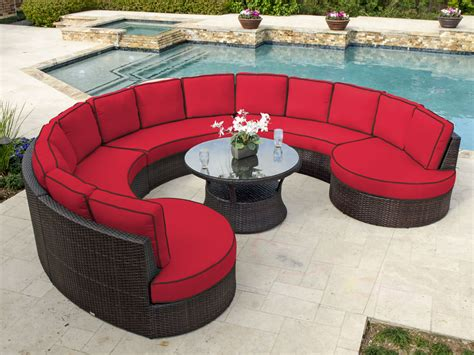 outdoor furniture circular couch how to choose circular patio furniture outdoor decorations