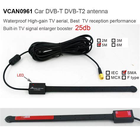vcan0961 car dvb t dvb t2 antenna waterproof high gain tv aerial best tv reception performance