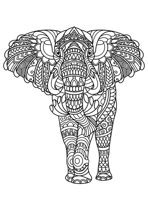 stress relief coloring pages elephant animal coloring pages pdf