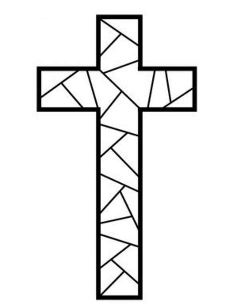 Coloring Page Of A Cross cross template to colour search results calendar 2015