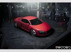 Matte Red Audi R8 by Rennen Forged Hennessey Ok