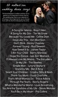 20 Mother Son Dance Song Ideas » Hill City Bride