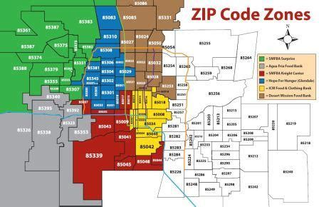 zip code maps phoenix zip codes phoenix arizona map