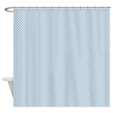 baby blue shower curtain baby blue polka dots shower curtain by printedlittletreasures