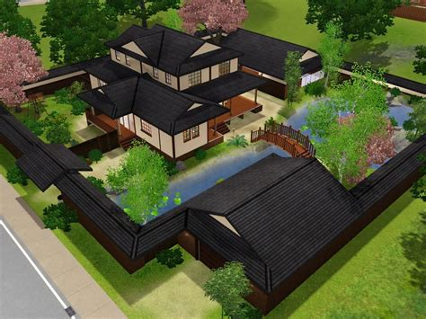 Japanese Mansion Floor Plans by Mod The Sims Himeya Inn Another Japanese House