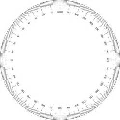 protractor template printable 360 degree protractor clipart best