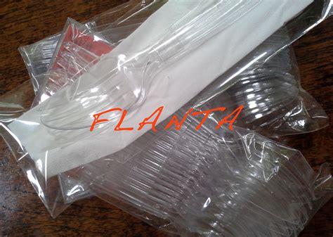 Jual Plastik Bening by Jual Sendok Garpu Plastik Bening Alat Pesta Arisan Ukm