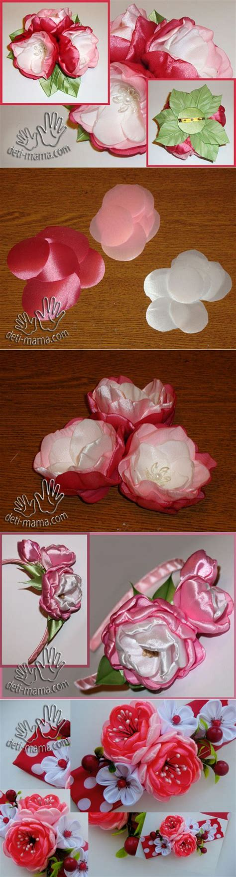 tutorial bunga ros organza 320 best images about fabric flowers on pinterest fabric
