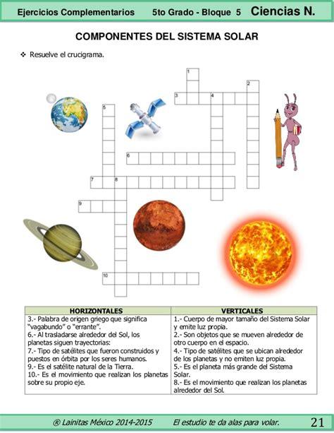 ciencia de 10 grado ejercicios 5to grado bloque 5 ejercicios complementarios