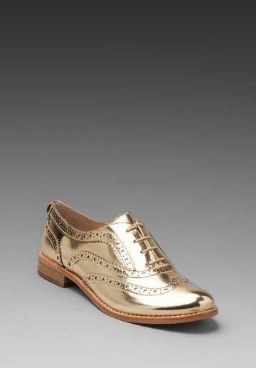 golden oxford shoes sam edelman jerome oxford flat in effegi gold at revolve