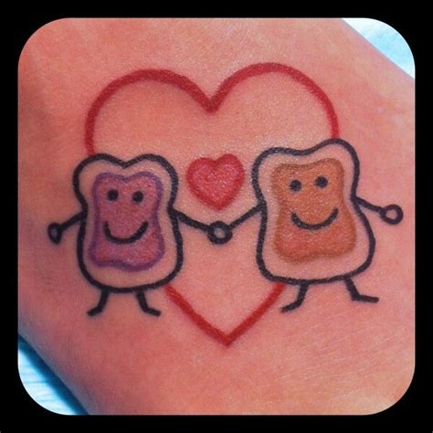 peanut butter jelly tattoo peanut butter jelly