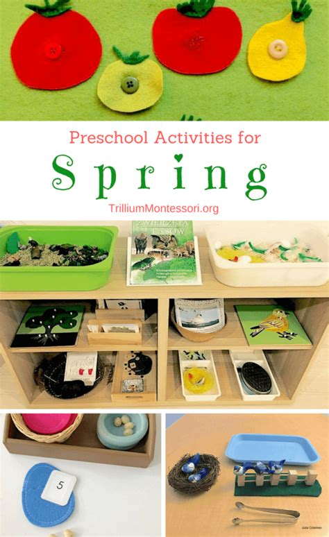 spring themed work events spring ideas for the preschool classroom
