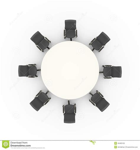 top view of office chairs and business conference meeting