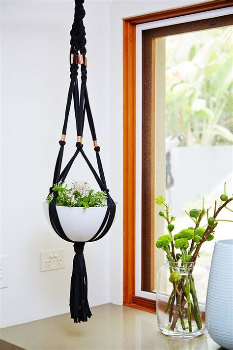 How Do You Make A Macrame Plant Hanger - diy macrame plant hangers diy better homes