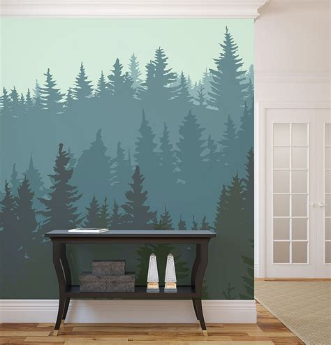 dare to be different 20 unforgettable accent walls 1wall tree wallpaper mural 2017 grasscloth wallpaper