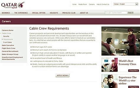 cabin crew qualifications qatar cabin crew photo requirements