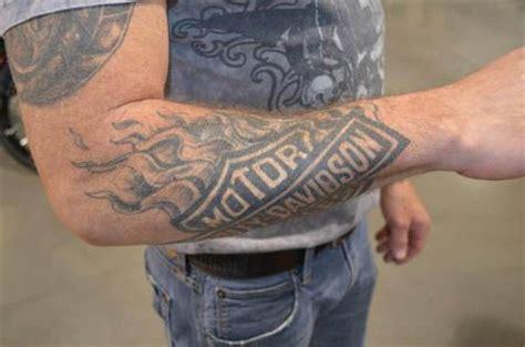 harley tattoos  forearm