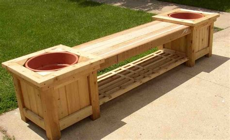 deck bench with storage outdoor storage bench with planters home furniture design