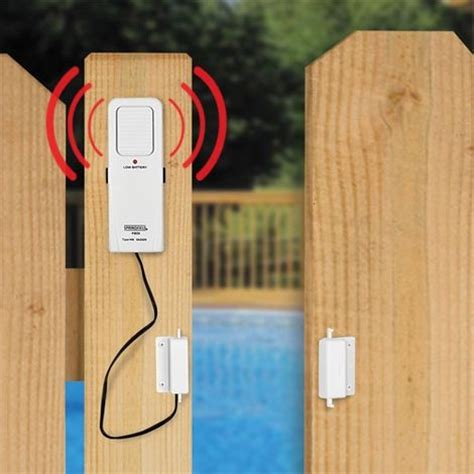 Pool Alarms For Doors by Pool Gate Alarm For Babygate If Someones