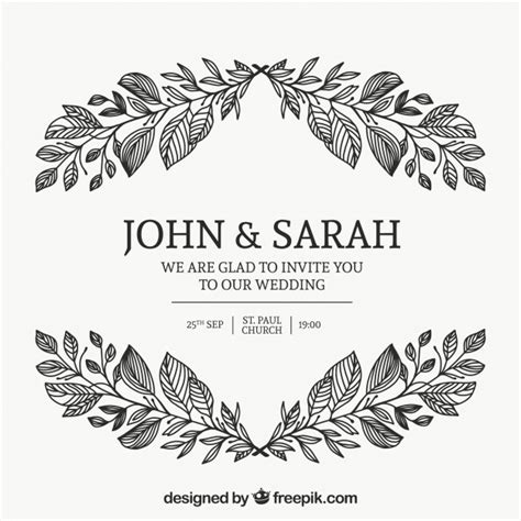 Wedding Card Ornaments by Wedding Card Invitation With Floral Ornaments Vector