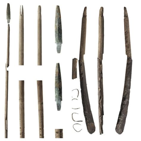neolithic bow  arrows    melting snow patch