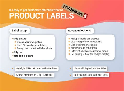 magento product labels sale stickers image labels