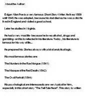 Poe The Essay Questions by Edgar Allan Poe Essay Topics Essay Character
