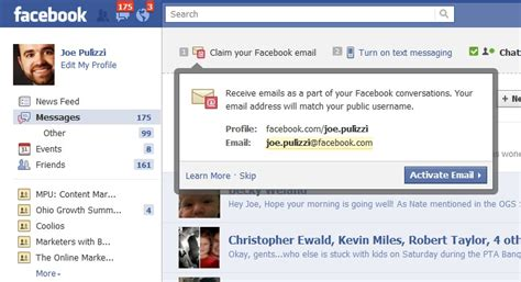 email yahoo facebook facebook takes on google with facebook email and texting