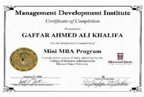 Mba Certificate by Mini Mba Mba Mba Certificate Mba Course Human Resource