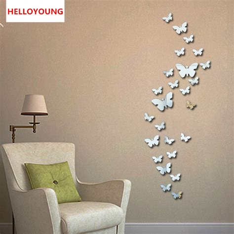bedroom walls diy butterfly wall decor art ideas for and aliexpress com buy qt 0046 new 30pcs decorative vinyl 3d