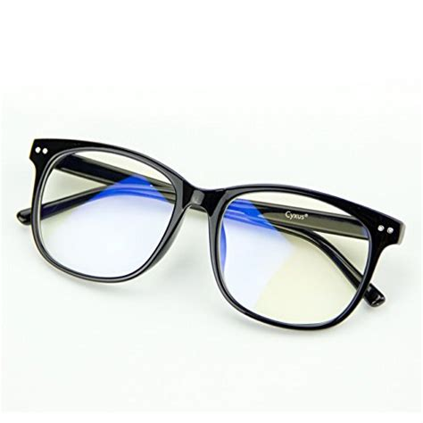 blue light eye fatigue cyxus blue light filter computer glasses transparent lens