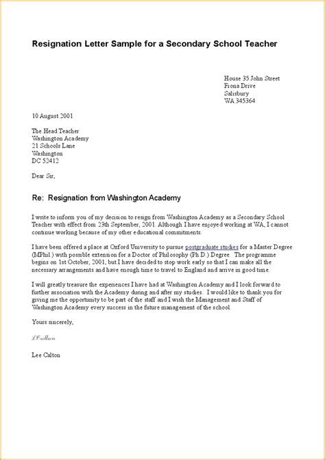 College Resignation Letter exle of resignation letter custom college papers sle of resignation letter 2016