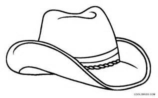 hat coloring printable cowboy coloring pages for cool2bkids