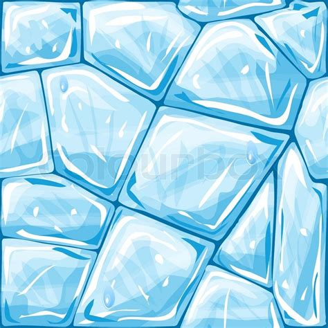 seamless pattern ice vector illustration of blue ice brick seamless pattern