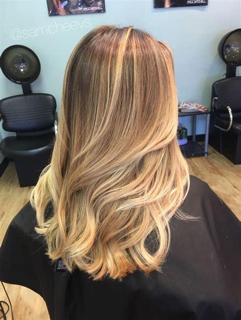 spring highlights for medium hair sandy warm platinum honey blonde balayage highlights hair