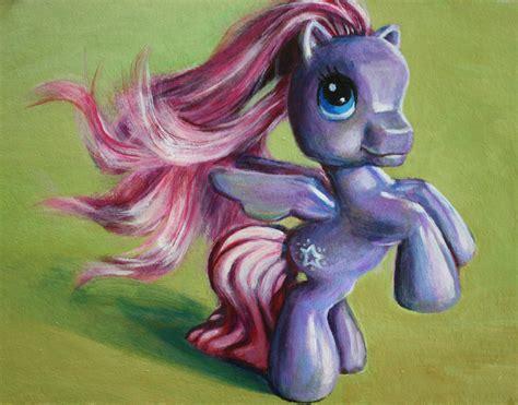 painting my pony my pony pegasus starsong print of acrylic painting
