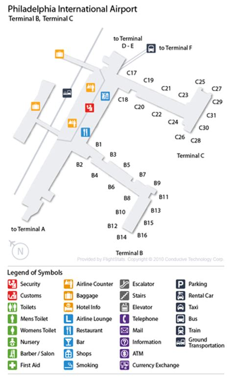 phl airport map map of terminals at philadelphia pictures to pin on pinsdaddy