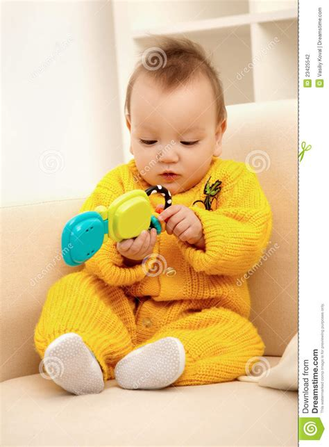 baby on couch baby on sofa stock photo image of beautiful expressing
