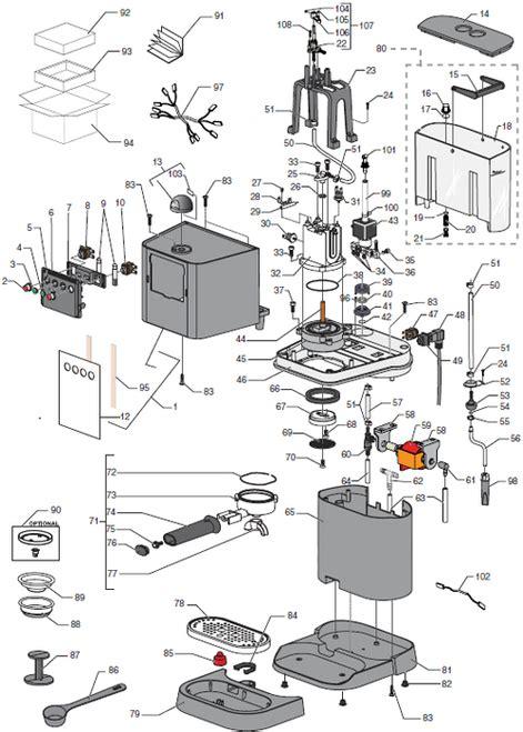 Pers Baby M30 gaggia baby black parts diagram
