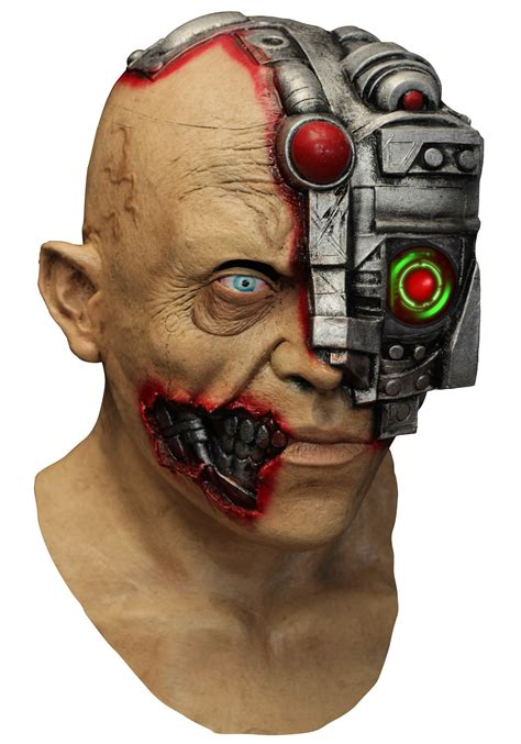 Masker Krisbow animated scanning cyborg mask