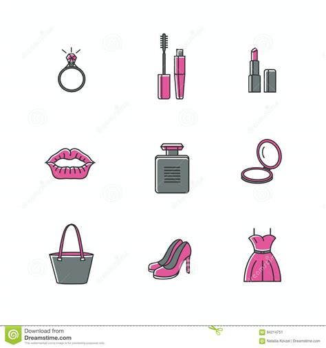 style related to and makeup icons set of signs related to
