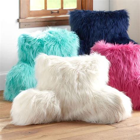 lounge pillow cover faux fur rific lounge around pillow cover pbteen