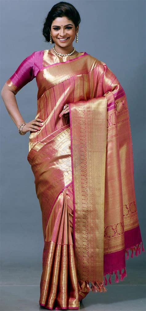 424 best SilK SareeS images on Pinterest   Indian bridal
