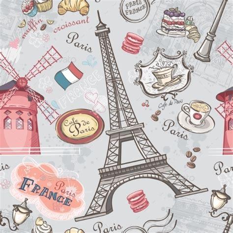 Wallpaper Animasi Paris | graphicriver paris pattern 9677922